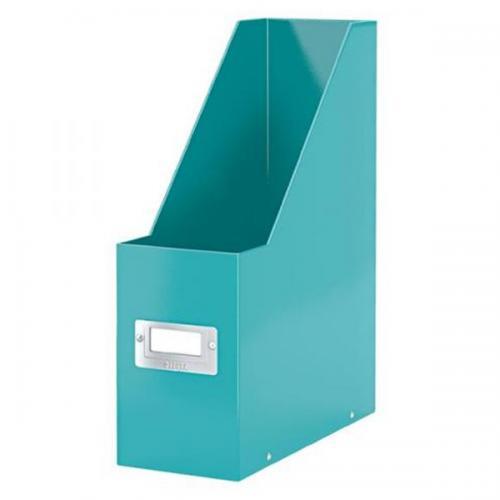 Leitz Kutu Klasör Plastik Wow Metalik Buz Mavi 6047