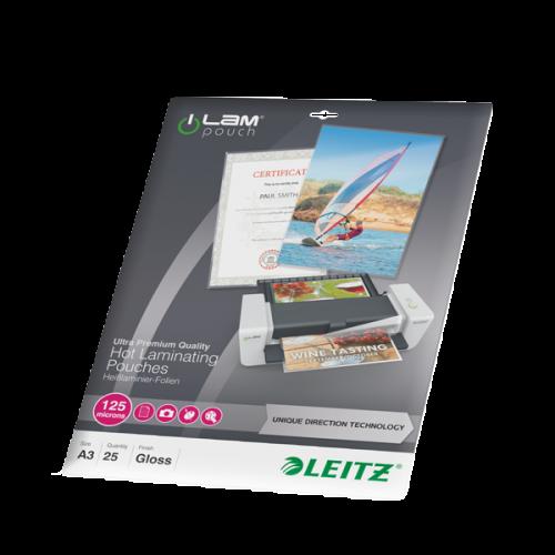 Leitz Laminasyon Filmi A3 125 MIC 25 Lİ 7489