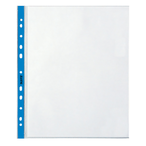 Leitz Poşet Dosya Kristal Mavi Kenarlı A4 90 MIC 100 LÜ L-4700
