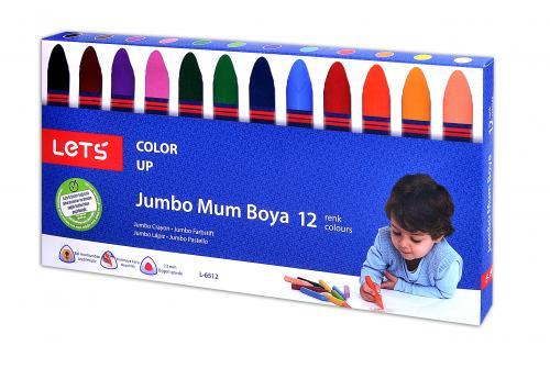 Lets Mum Pastel Boya Karton Kutu Jumbo 12 Renk L-6512