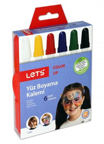 Lets Yüz Boyası 6 Renk L-6806