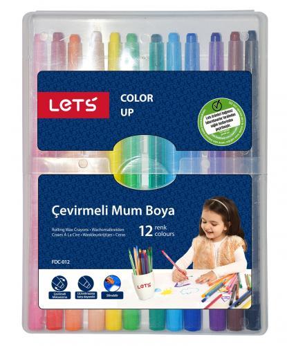 Lets Mum Pastel Boya Çevirmeli 12 Renk FDC-012