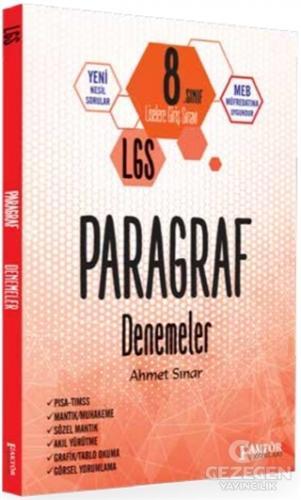 Faktör 8. Sınıf LGS Paragraf Deneme Faktör Yayınları