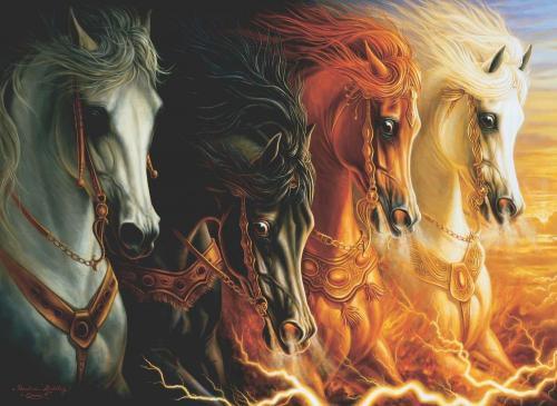 Anatolian Mahşerin Dört Atı The Four Horses Of Apocalypse 1000 Parça Puzzle - Yapboz