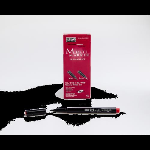 Marvy Asetat Kalemi Permanent M Seri Kırmızı 2600M-2