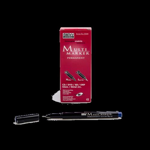 Marvy Asetat Kalemi Permanent S Seri Mavi 2600S-3