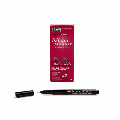 Marvy Asetat Kalemi Permanent S Seri Siyah 2600S-1