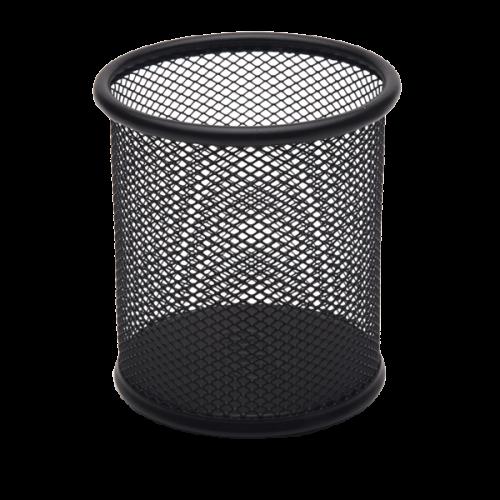 Mas Kalemlik Metal Perforeli Silindir Siyah 500