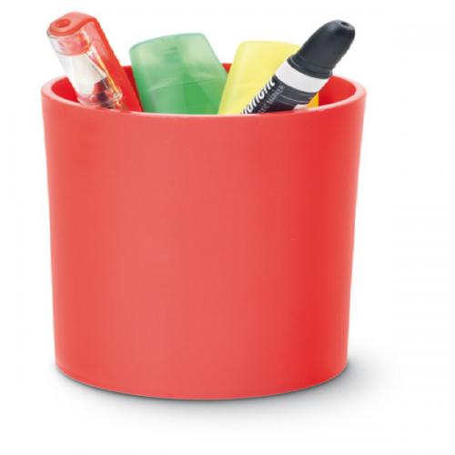 Mas Kalemlik Silindir Plastik Kristal Kırmızı 495