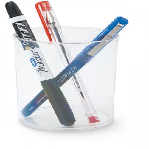 Mas Kalemlik Silindir Plastik Kristal Şeffaf 495