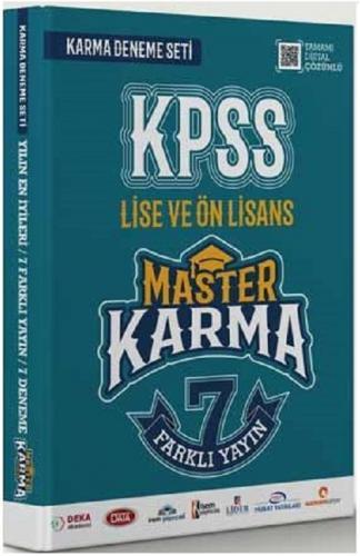 Master Karma 2020 KPSS Lise Ön Lisans GYGK 7 Deneme Dijital Çözümlü Master Karma Yayınları