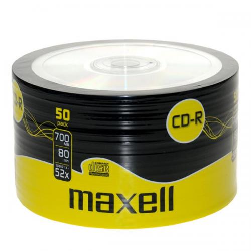 Maxell CD R 80 DK / 700 MB 52X Recordable Spindle 50 Lİ