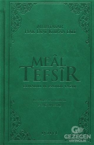 Meal Tefsir - Muhtasar Hak Dini Kur'an Dili (Yeşil Renk)