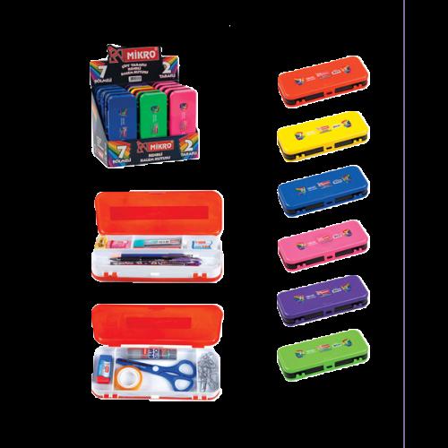 Mikro Kalem Kutusu Çift Taraflı Renkli M-80