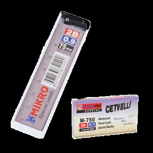 Mikro Min Cetvelli 2B 75 MM 0.9 MM M-750