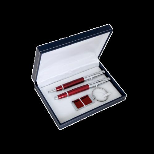 Mikro Takım Kalem Dolma+Tükenmez+Versatil Kırmızı BS-591