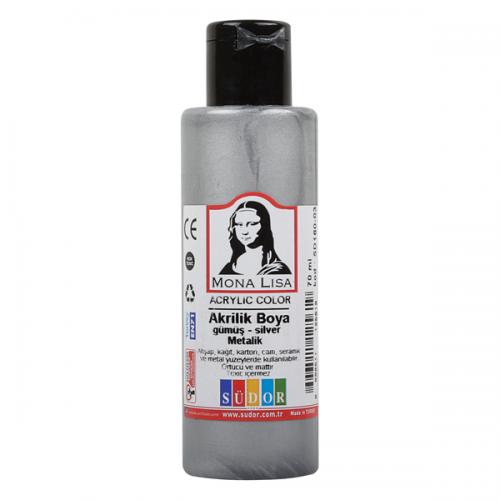 Monalisa Akrilik Boya 70 ML Gümüş SD160-03