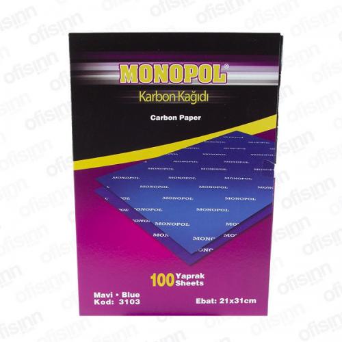 Monopol Karbon Kağıdı 100 LÜ A4 Mavi 3103