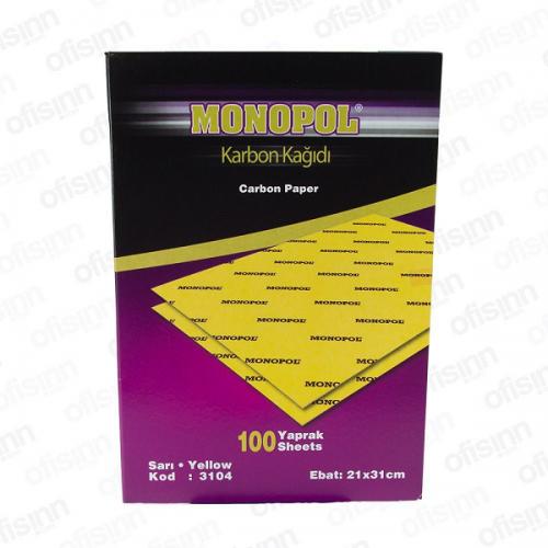Monopol Karbon Kağıdı 100 LÜ Sarı 3104
