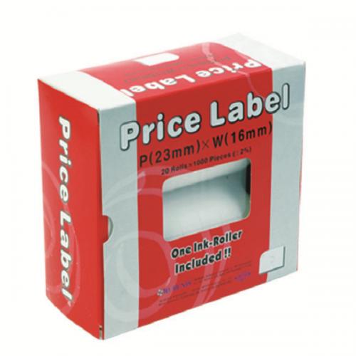 Motex Fiyat Etiketi Çift Haneli 6600 İçin 16x23 Beyaz E-6600