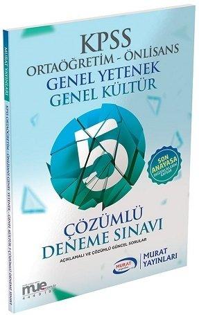 Murat 2020 KPSS Lise Ortaöğretim Ön Lisans GKGY 5 Deneme Çözümlü Murat Yayınları