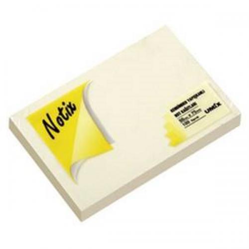Notix Yapışkanlı Not Kağıdı 100 YP 125x75 Pastel Sarı N-PS-12575