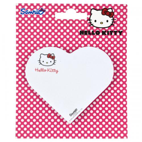 Notix Yapışkanlı Not Kağıdı Kalp Şekilli Hello Kitty 50 YP HK-KALP-FP