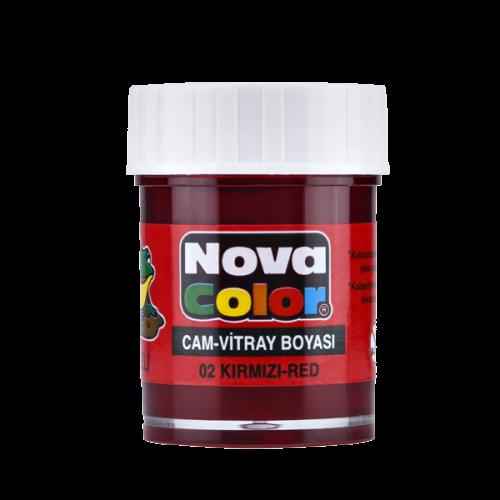 Nova Color Cam Boyası Su Bazlı Şişe Kırmızı NC-150