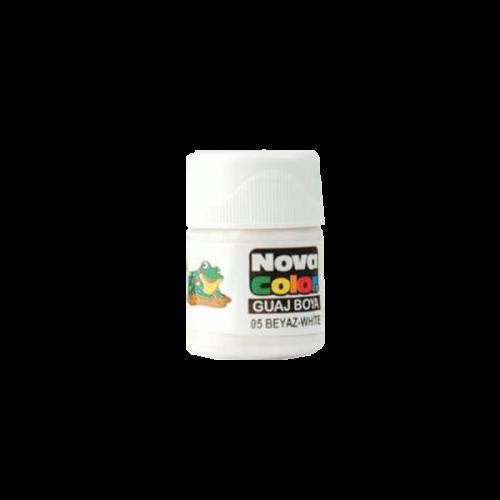 Nova Color Guaj Boya Şişe 12 Lİ Beyaz NC-107