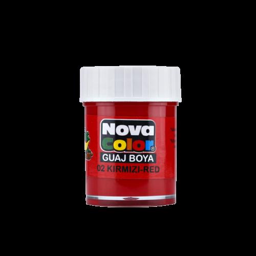 Nova Color Guaj Boya Şişe 12 Lİ Kırmızı NC-104