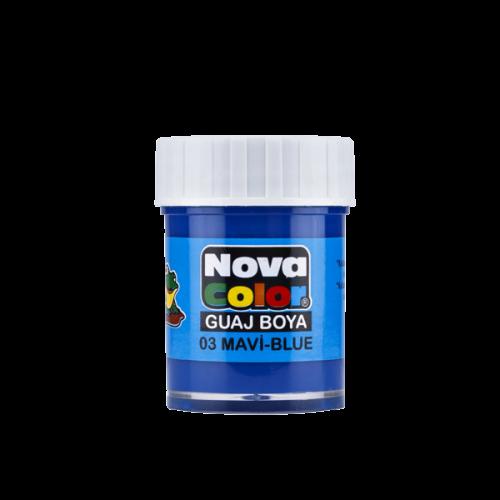 Nova Color Guaj Boya Şişe 12 Lİ Mavi NC-105