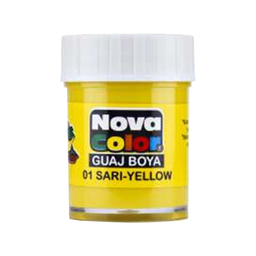 Nova Color Guaj Boya Şişe 12 Lİ Sarı NC-103