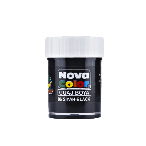 Nova Color Guaj Boya Şişe 12 Lİ Siyah NC-108