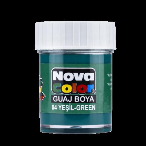 Nova Color Guaj Boya Şişe 12 Lİ Yeşil NC-106