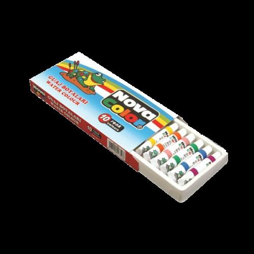 Nova Color Guaj Boya Tüp 10 Renk NC-102