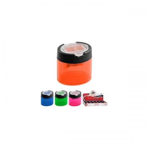 Onas Kalemtraş Plastik Çift Delikli Hazneli Şeffaf Renkler NS-2050