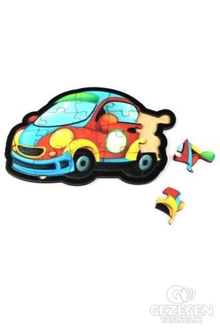 Otomobil Ahşap Puzzle 18 Parça
