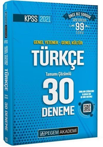 Pegem 2021 KPSS Türkçe 30 Deneme Çözümlü Pegem Akademi Yayınları