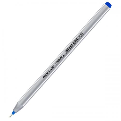 Pensan Tükenmez Kalem Triball 1.0 MM Bilye Uç Mavi 12 Li 1003