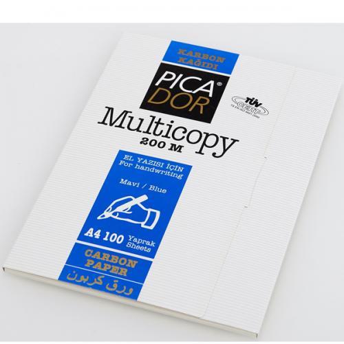 Picador Karbon Kağıdı 100 LÜ A4 Mavi 200M