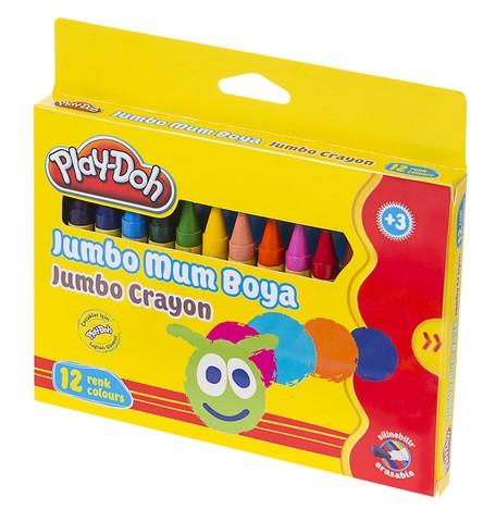Play-Doh Mum Pastel Boya Crayon Yuvarlak 12 Renk PLAY-CR005