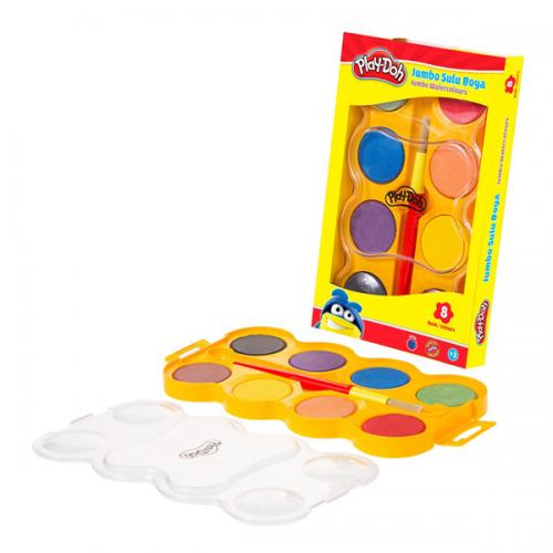Play-Doh Sulu Boya Jumbo 40 MM 8 Renk PLAY-SU005