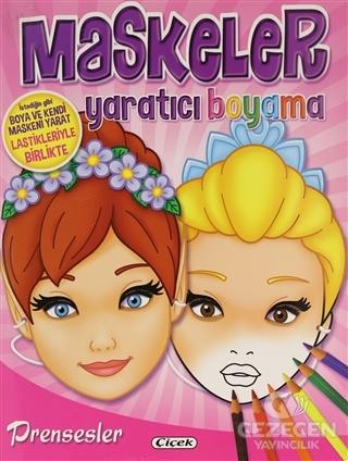 Prensesler - Maskeler Yaratıcı Boyama