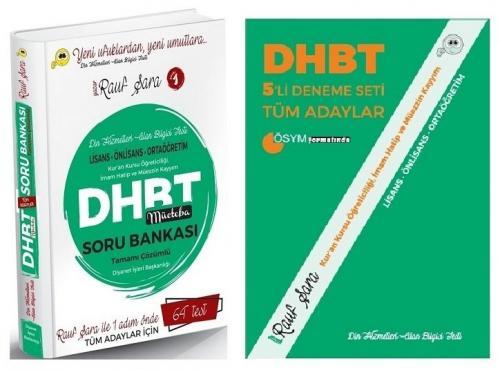 Rauf Şara 2021 DHBT Mücteba Tüm Adaylar Soru Bankası + 5 Deneme 2 li Set Rauf Şara *
