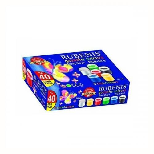 Rubenis Guaj Boya 6 Renk 30 ML RGB-30-6
