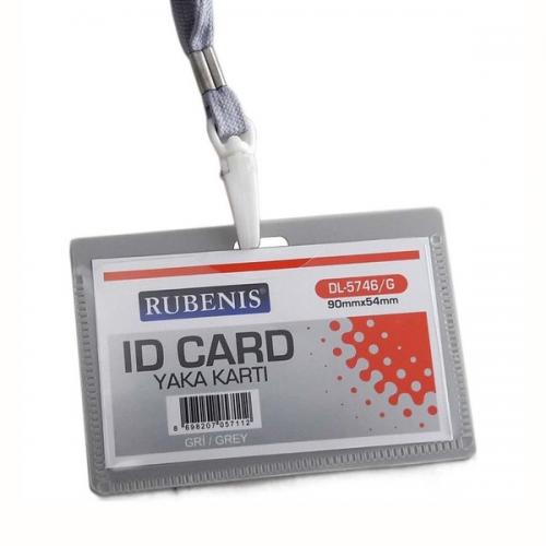 Rubenis Kart Kabı Gri DL-5746/G