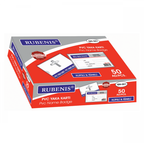 Rubenis Kart Kabı İğneli Şeffaf QN-001