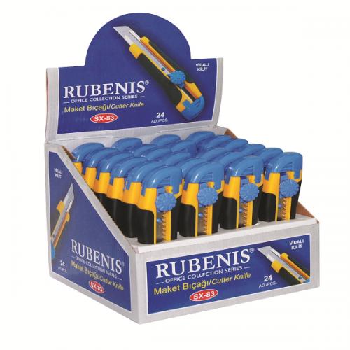 Rubenis Maket Bıçağı Geniş Sıkıştırmalı SX-83