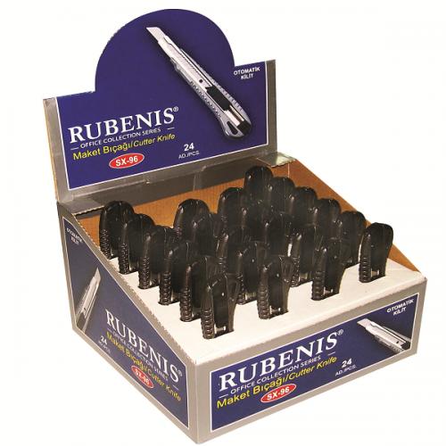 Rubenis Maket Bıçağı İnce Kilitli Metal SX-96