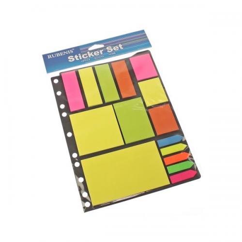 Rubenis Yapışkanlı Not Kağıdı Karışık Renk RPS-15